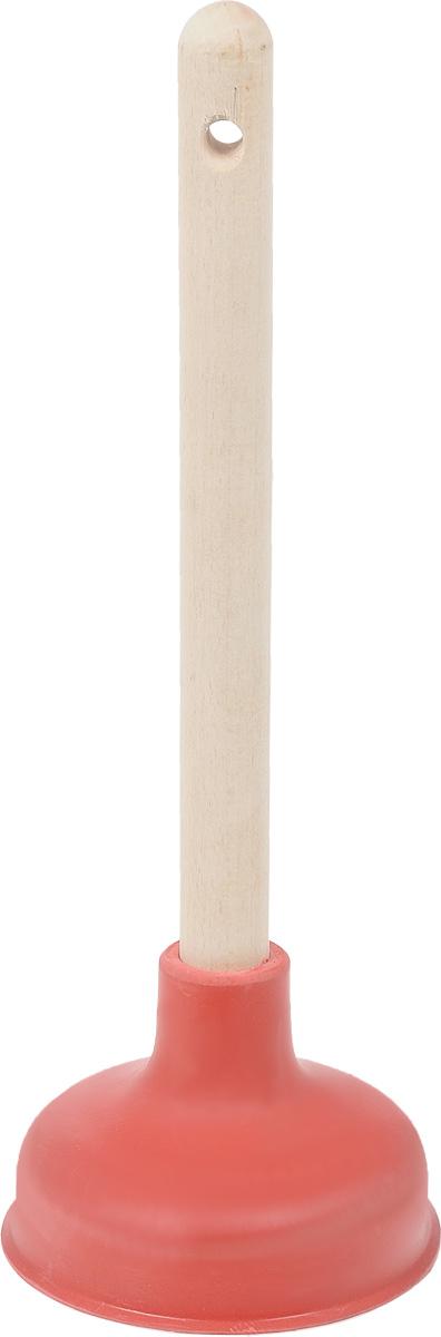 Вантуз Burstenmann, цвет: красный, светло-коричневый, высота 38 см0522/0000Вантуз Burstenmann, выполненный из прочного полиэтилена и дерева, является инструментом для прочистки ванн, раковин, сливов, унитазов. Вантуз прост в использовании, справиться с ним может любая домохозяйка, которой надоели проблемы с канализацией. Высота вантуза: 38 см. Диаметр присоски: 14 см.