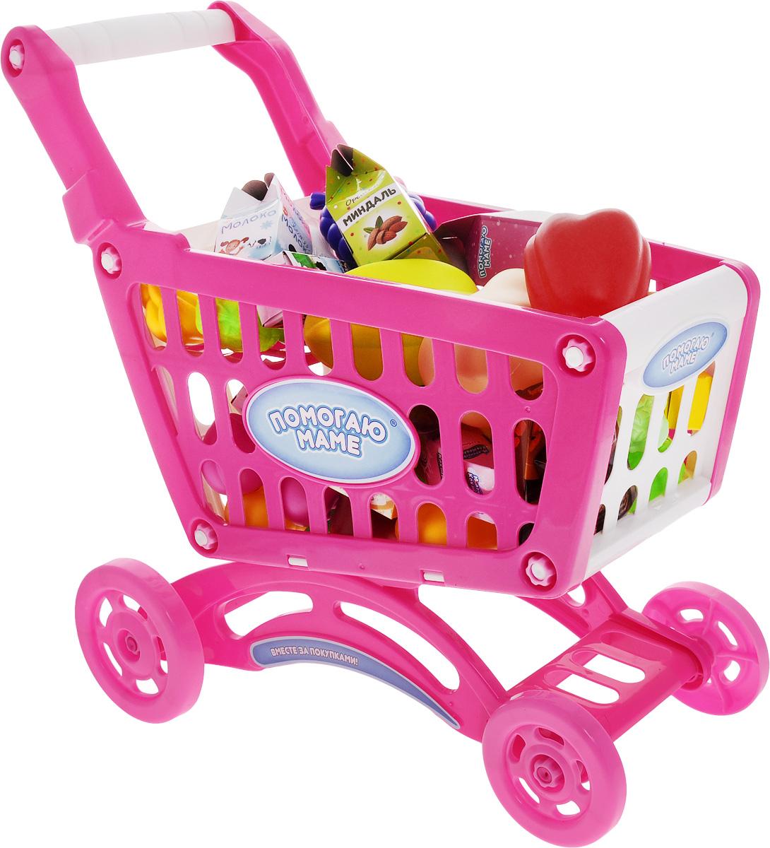 ABtoys Игрушечный набор Продуктовая корзинаPT-00358С игрушечным набором ABtoys Продуктовая корзина ребенок сможет играть в сюжетно-ролевые игры, связанные с продуктовым магазином. Изготовленные из качественного пластика фрукты и овощи также будут уместны и на игрушечной кухне. Делая воображаемые покупки или готовя ненастоящую еду, ребенок сможет подражать своим родителям. Продуктовая корзина-тележка устойчива и не имеет острых углов. Крупные колеса легко вращаются и без проблем ездят по твердой поверхности.