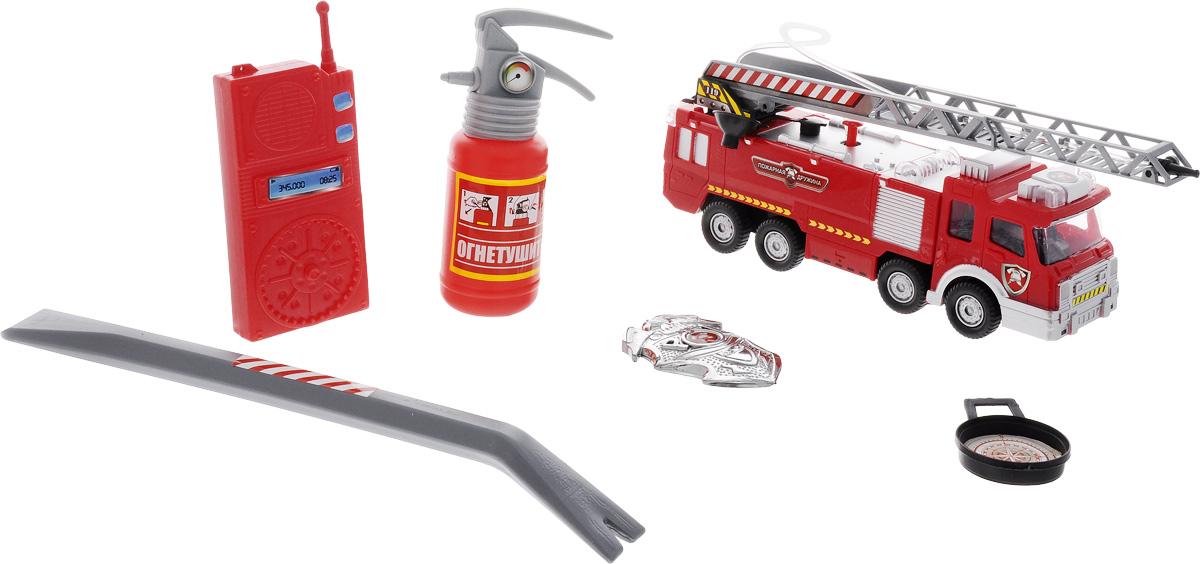 ABtoys Игровой набор Пожарная дружинаPT-00348Пожарная дружина. Машина эл/мех со световыми и звуковыми эффектами и реалистичными функциями, в коробке.
