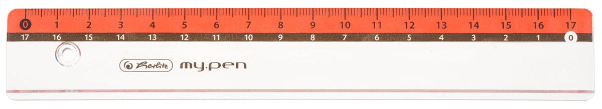 Herlitz Линейка My Pen цвет красный 17 см