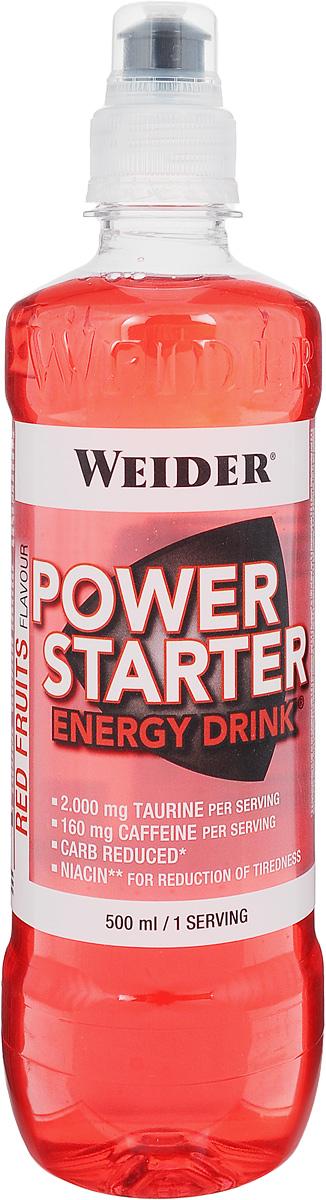 Энергетический напиток Weider Power Starter, красные фрукты, 500 мл38593Энергетический напиток Weider Power Starter с кофеином и таурином поможет сделать ваши тренировки более продуктивными и придаст стимул. Главная особенность кофеина в Weider Power Starter - это его чрезвычайное быстродействие. По сравнению с кофе он действует значительно быстрее и лучше переносится желудком. В одной бутылке Power Starter содержится кофеин в максимально допустимой концентрации - 160 мг. Также в одной порции содержится 2000 мг таурина и ниацин для уменьшения усталости. Пониженное содержание углеводов. Рекомендации по применению: Выпивайте не более одной бутылки в день. Пейте перед тренировкой или во время нее. Противопоказан прием с алкоголем! Противопоказан прием детям и людям с болезнями сердца! Состав: натуральная минеральная вода, лимонная кислота, фруктоза, таурин, витамины, ацесульфам калия, цикламат натрия, сахарин натрия, кофеин, сорбат калия, бензоат натрия. Товар сертифицирован.