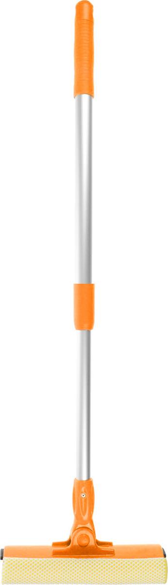 Щетка для окон Мультидом, с телескопической ручкой, цвет: оранжевый, серебристый, длина ручки 50-78 смYM58-131_оранжевый, серебристыйЩетка Мультидом предназначена для мытья окон, зеркал, керамической плитки и других поверхностей. Щетка снабжена поролоновой губкой и резиновым сгоном. А также имеет подвижное пластиковое крепление щетки к ручке, выполненной из прочного алюминия. Длина ручки: 50-78 см. Размер рабочей части: 21 х 8 см.