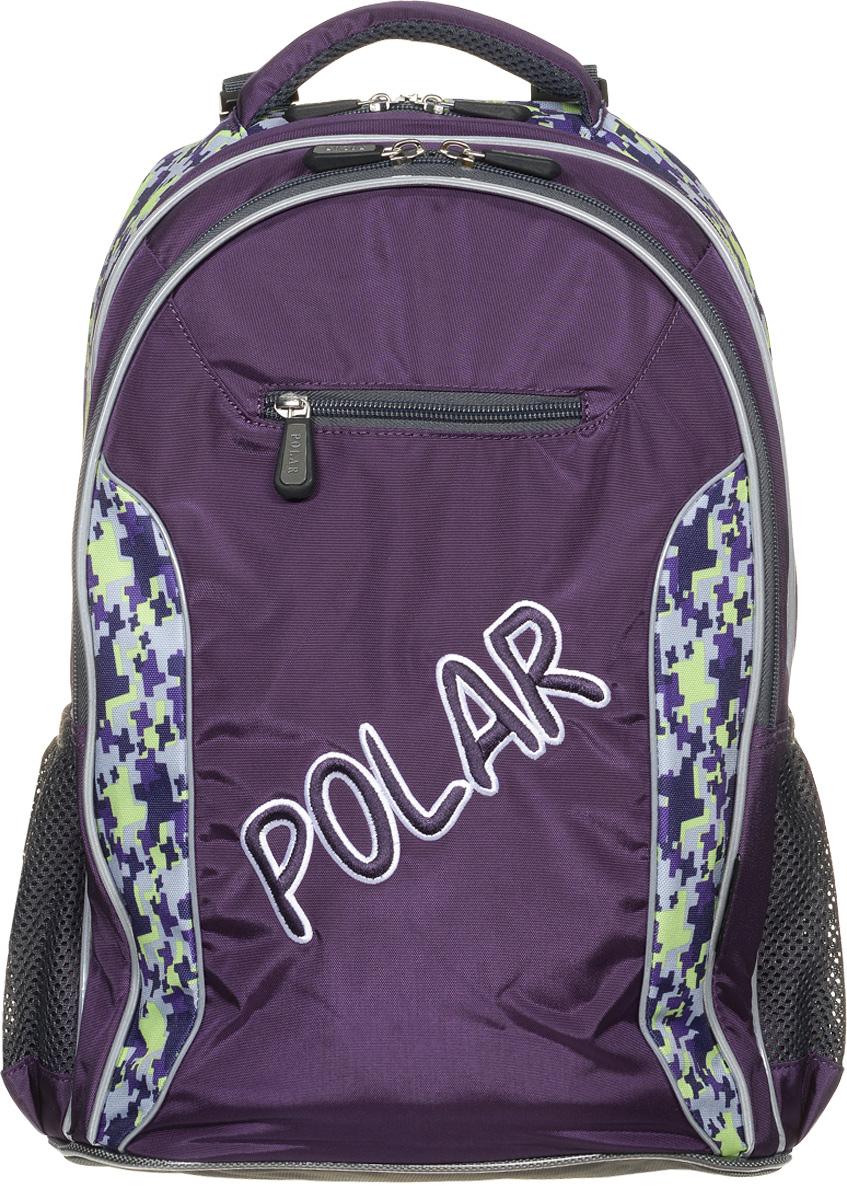 Рюкзак детский городской Polar, 26 л, цвет: фиолетовый. П0082-29П0082-29Школьный рюкзак Polar. У рюкзака 2 отделения и несколько карманов для мелких принадлежностей. В большом отделение имеется карман под ноутбук диагональю 14. Спинка эргономичной формы, повторяет контур спины ребенка, тем самым равномерно распределяет нагрузку на позвоночник. Полумягкое дно для безопасности ношения. С обеих сторон имеются карманы для бутылок с водой. Светоотражатели спереди и сзади школьного рюкзака. Гибкая петля для того, чтобы подвесить ранец на крючок. Подходит для 1-6 классов.
