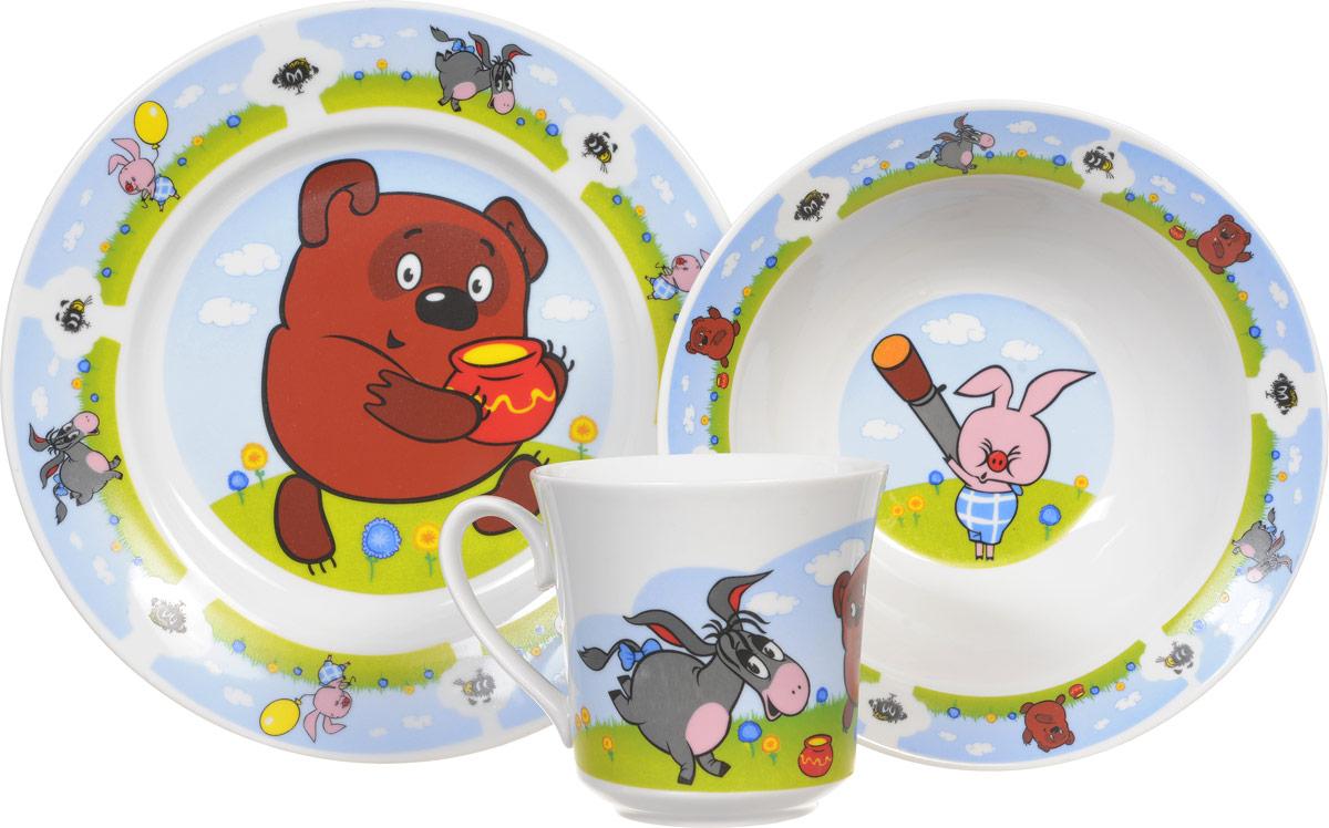 Союзмультфильм Набор детской посуды Винни-Пух 3 предмета