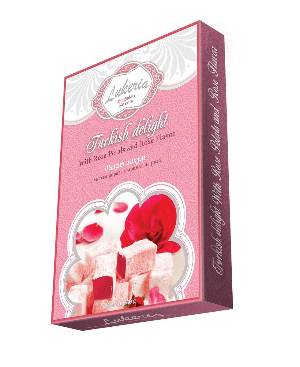 Lukeria Рахат-лукум с ароматом розы и лепестками роз, 250 г ( B18152 )