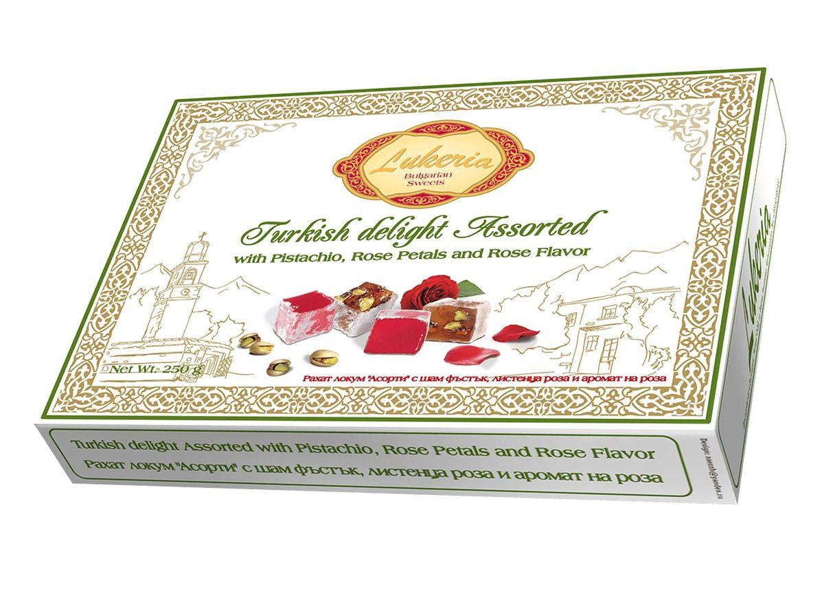 Lukeria Рахат-лукум с фисташками, лепесками розы и ароматом розы, 250 г ( B80031 )