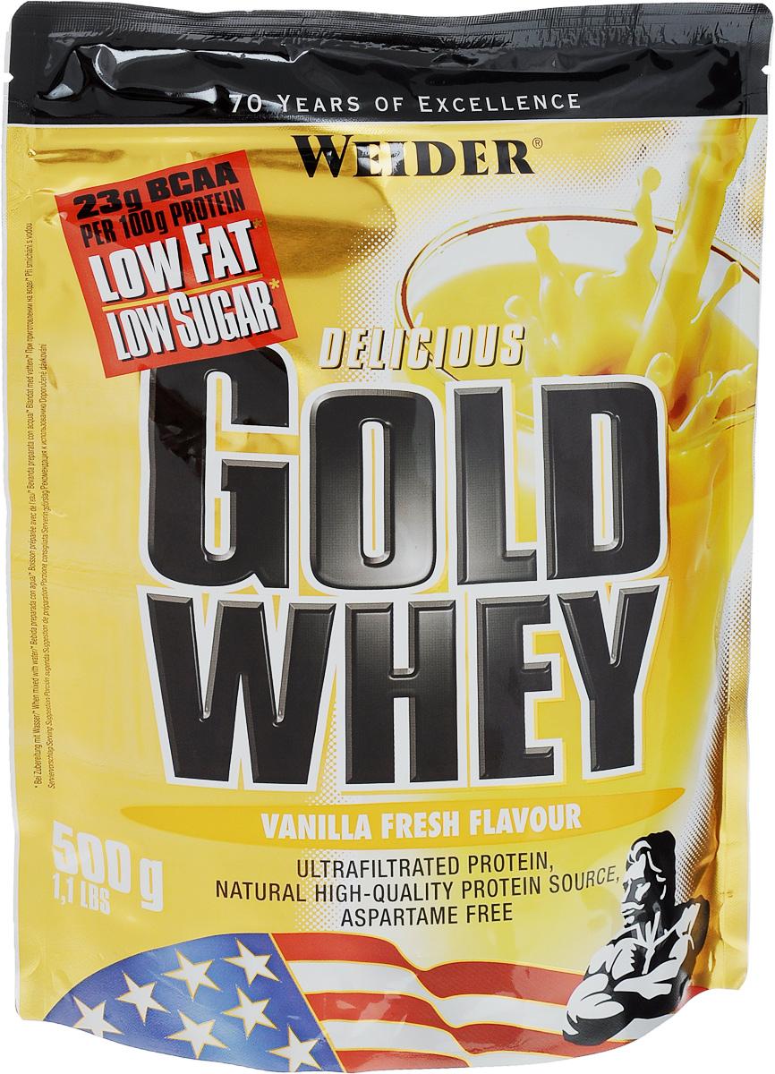 """Протеин сывороточный Weider """"Gold Whey"""", ваниль, 500 г"""