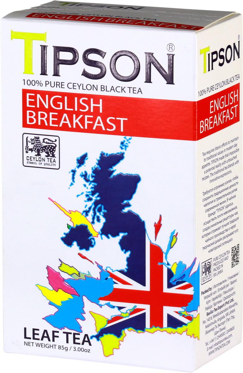 Tipson Английский завтрак черный листовой чай, 85 г80116-00Требуются огромные усилия, чтобы сохранить традиционные ценности чаепития в стремительном ритме современной жизни. В чайном бренде Tipson удалось осуществить почти невозможное, создав уникальные рецептуры чая, которые отражают лучшие традиции чайного производства и через творческий дизайн раскрывают его новаторский потенциал. Невозможно представить классический английский завтра без чая. Tipson поддерживает эту традицию, развивает ее и дополняет новаторским подходом.