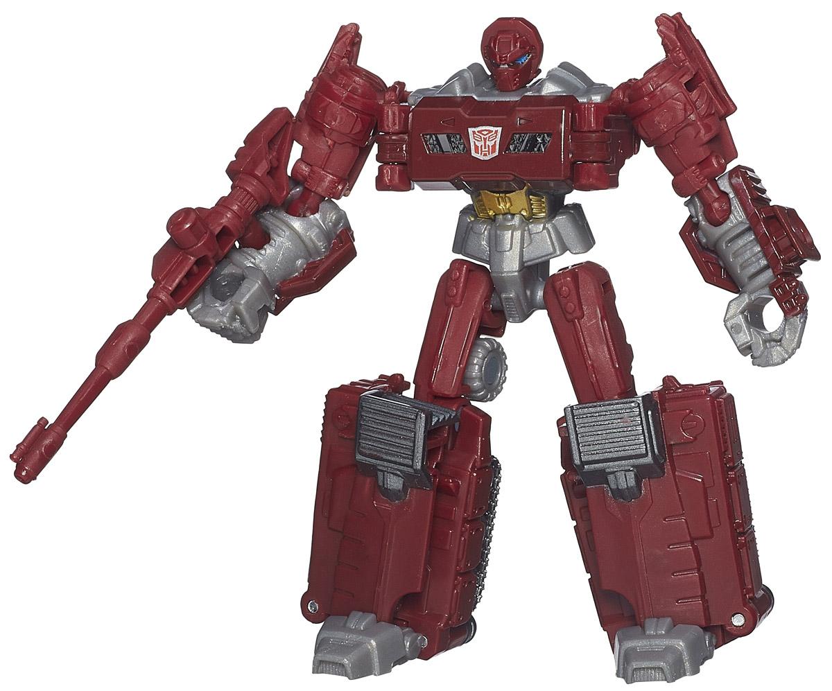 Transformers Трансформер WarpathB0971_B1798Трансформер Transformers Warpath непременно понравится всем юным поклонникам знаменитых Трансформеров! Фигурка выполнена из прочного пластика в виде трансформера Warpath. Руки и ноги робота подвижны. В несколько простых шагов малыш сможет трансформировать фигурку робота в транспортное средство. В комплекте с игрушкой идет также коллекционная карточка. Ребенок с удовольствием будет играть с фигуркой, придумывая разные истории. Порадуйте его таким замечательным подарком!