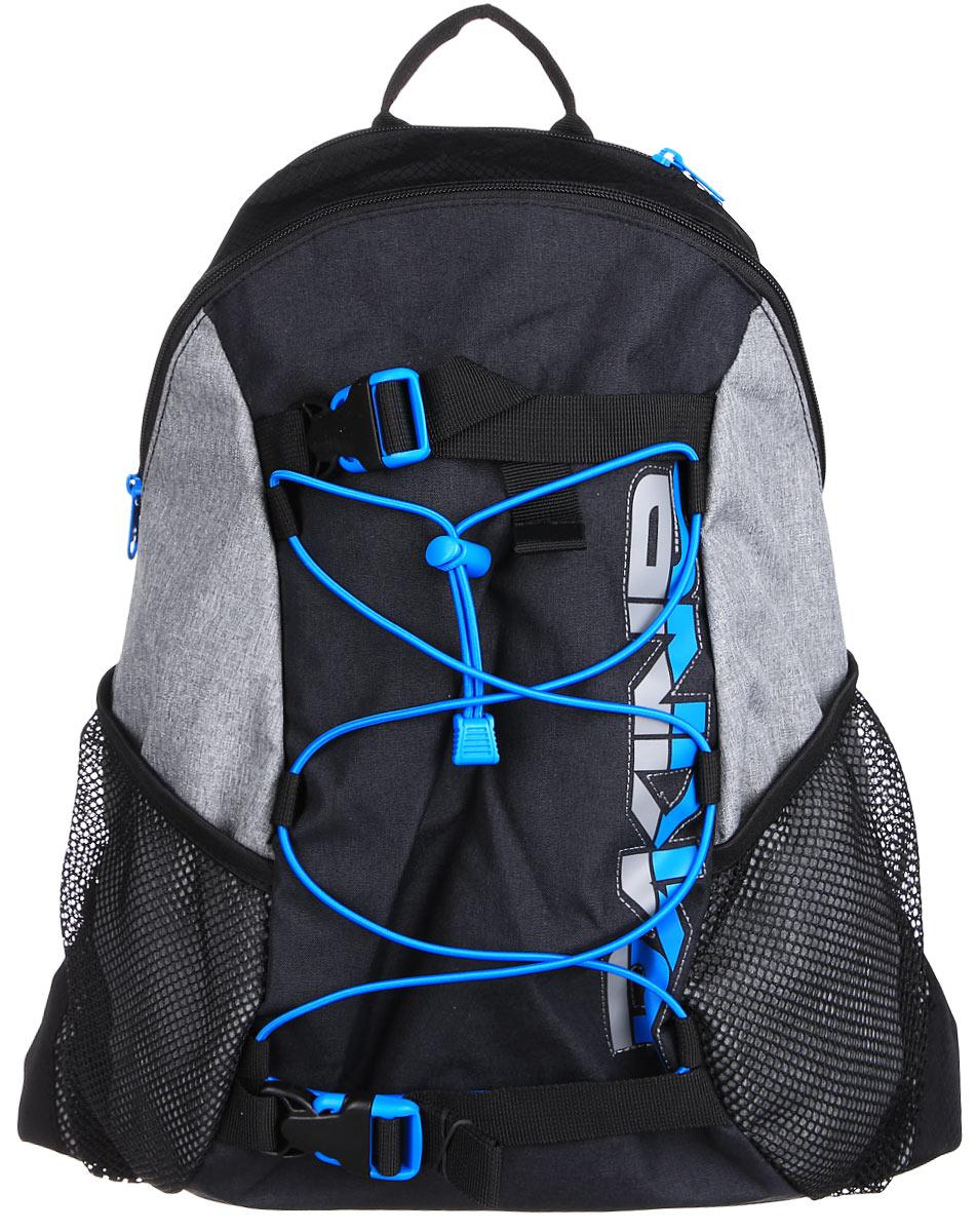 Рюкзак Dakine DK WONDER 15L TABOR. 0813006000116693 08130060Городской однообъемный рюкзак. Лямки для переноски скейтборда, резиновый шнур для закрепления вещей снаружи. Два кармана побокам из сетки.
