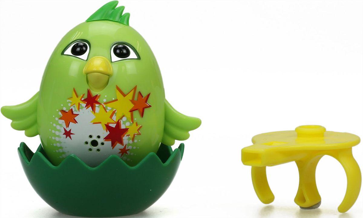 DigiBirds Интерактивная игрушка Цыпленок с кольцом Fluff цвет зеленый88280-4
