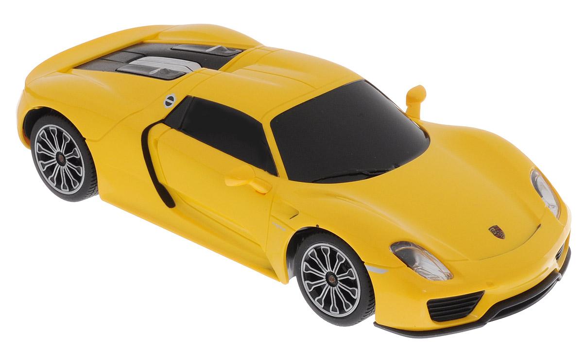 Rastar Радиоуправляемая модель Porsche 918 Spyder цвет желтый
