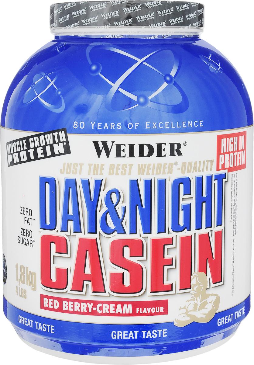 Казеин Weider Day & Night Casein, красные ягоды-крем, 1,8 кг31291Казеин Weider Day & Night Casein - порошок для приготовления высокобелкового напитка с казеинатом кальция, как единственным источником протеина. Казеин усваивается медленно, поддерживая постоянное поступление аминокислот в кровь. Мышцы могут быть обеспечены аминокислотами на 7 часов. Weider Day & Night Casein производится с использованием передовых методов производства и предлагает высокое качество для успешных тренировок. Идеально подходит для последнего приема пищи перед сном или в качестве промежуточного между приемами пищи коктейля. Он также идеально подходит для защиты мышц во время жестких тренировок, чтобы сжигать жир. Идеальная альтернатива творогу, потому что он не содержит жир и углеводы. Рекомендации по применению: Пейте от 1 до 3 коктейлей в день. Употребляйте между приемами пищи и перед сном. Рекомендации по приготовлению: Размешать 25 г порошка (1 мерная ложка) в 300 мл маложирного молока (1,5% жирности) или воды. ...