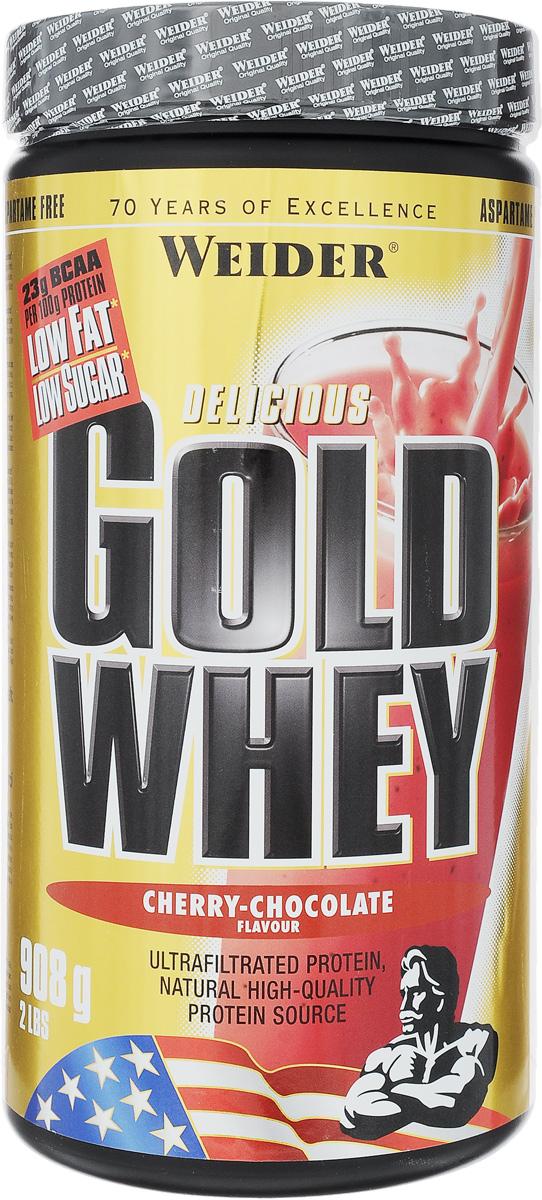 "Протеин сывороточный Weider ""Gold Whey"", вишня-шоколад, 908 г"