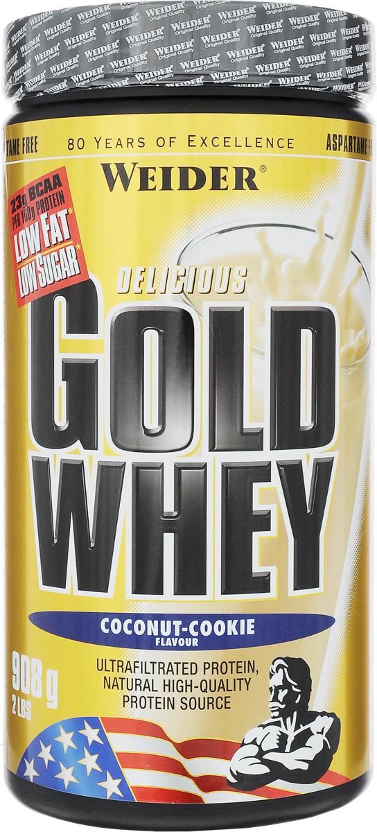 """Протеин сывороточный Weider """"Gold Whey"""", кокос-печенье, 908 г"""