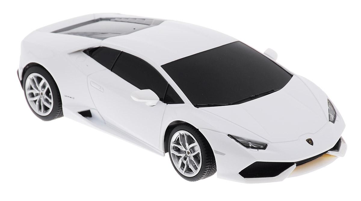 Rastar Радиоуправляемая модель Lamborghini Huracan LP 610-4 цвет белый71500Радиоуправляемая модель Rastar Lamborghini Huracan LP 610-4 обязательно привлечет внимание взрослого и ребенка и несомненно понравится любому, кто увлекается автомобилями. Эта машина - точная копия автомобиля Lamborghini Huracan LP 610-4 в масштабе 1/24. Машинка изготовлена из высококачественного пластика, шины выполнены из мягкой резины. Управление игрушкой происходит при помощи удобного пульта. Пульт управления работает на частоте 27 MHz. Автомобиль может перемещаться вперед, дает задний ход, поворачивает влево и вправо, останавливается. Ваш ребенок увлеченно будет играть с моделью, придумывая различные истории и устраивая соревнования. Порадуйте его таким замечательным подарком! Для работы автомобиля требуются 3 батарейки напряжением 1,5V типа АА (не входят в комплект). Для работы пульта управления требуются 2 батарейки напряжением 1,5V типа АА (не входят в комплект).