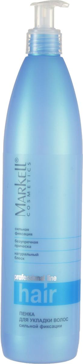 Markell Пенка для укладки волос Professional Hair Line сильной фиксации, 500 мл8116Профессиональное средство для длительного сохранения объема и фиксации естественной прически. Идеально походит для окрашенных и поврежденных волос. Рекомедовано для использования в салонах.