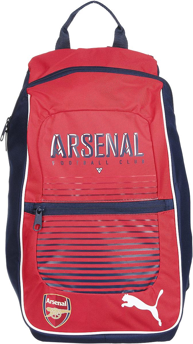Puma Рюкзак спортивный Arsenal Fanwear Backpack07390401Незаменимая вещь для фанатов ФК Арсенал - стильный и функциональный рюкзак с символикой любимого клуба.