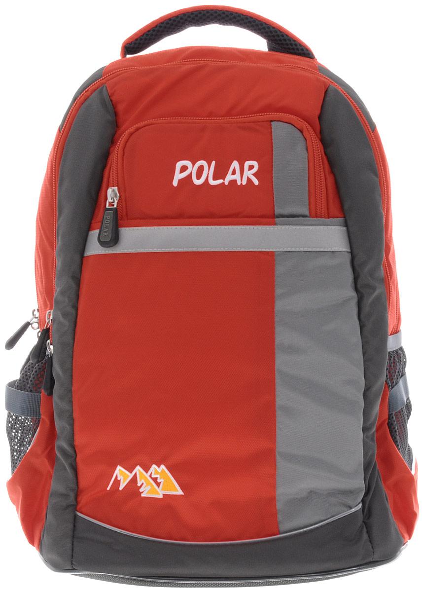 Рюкзак детский городской Polar, 26 л, цвет: оранжевый. П220-02П220-02Рюкзак фирмы Polar изготовлен из ткани с водоотталкивающей пропиткой. Жесткая спинка рюкзака имеет специальные вставки для лучшего воздухообмена. Новая конструкция лямок позволяет регулировать их не только по длине, но и согласно Вашему росту. Специальное крепление в верхней части каждой лямки поможет отрегулировать их так, что рюкзак сможет носить как взрослый, так и ребенок, не создавая дискомфорта для спины. Жесткое дно делает рюкзак устойчивым и дополняет удобством при ношении.