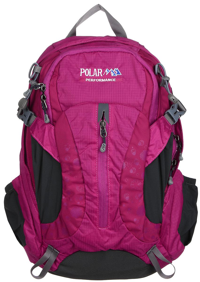 Рюкзак городской Polar, 14,5 л, цвет: розовый. П1552-17П1552-17Женский компактный рюкзак с модным дизайном. Полностью вентилируемая спинка с системой Aircomfort, мягкие плечевые лямки создают дополнительный комфорт при ношении. Центральный отсек для персональных вещей и карманом для папки А4. Большой передний карман с органайзером, внутри удобный мягкий пенал на карабине. Два боковых кармана под бутылку с водой на резинке. Регулирующая грудная стяжка с удобным фиксатором. Регулирующий поясной ремень, удерживает плотно рюкзак на спине, что очень удобно при езде на велосипеде или продолжительных походах.