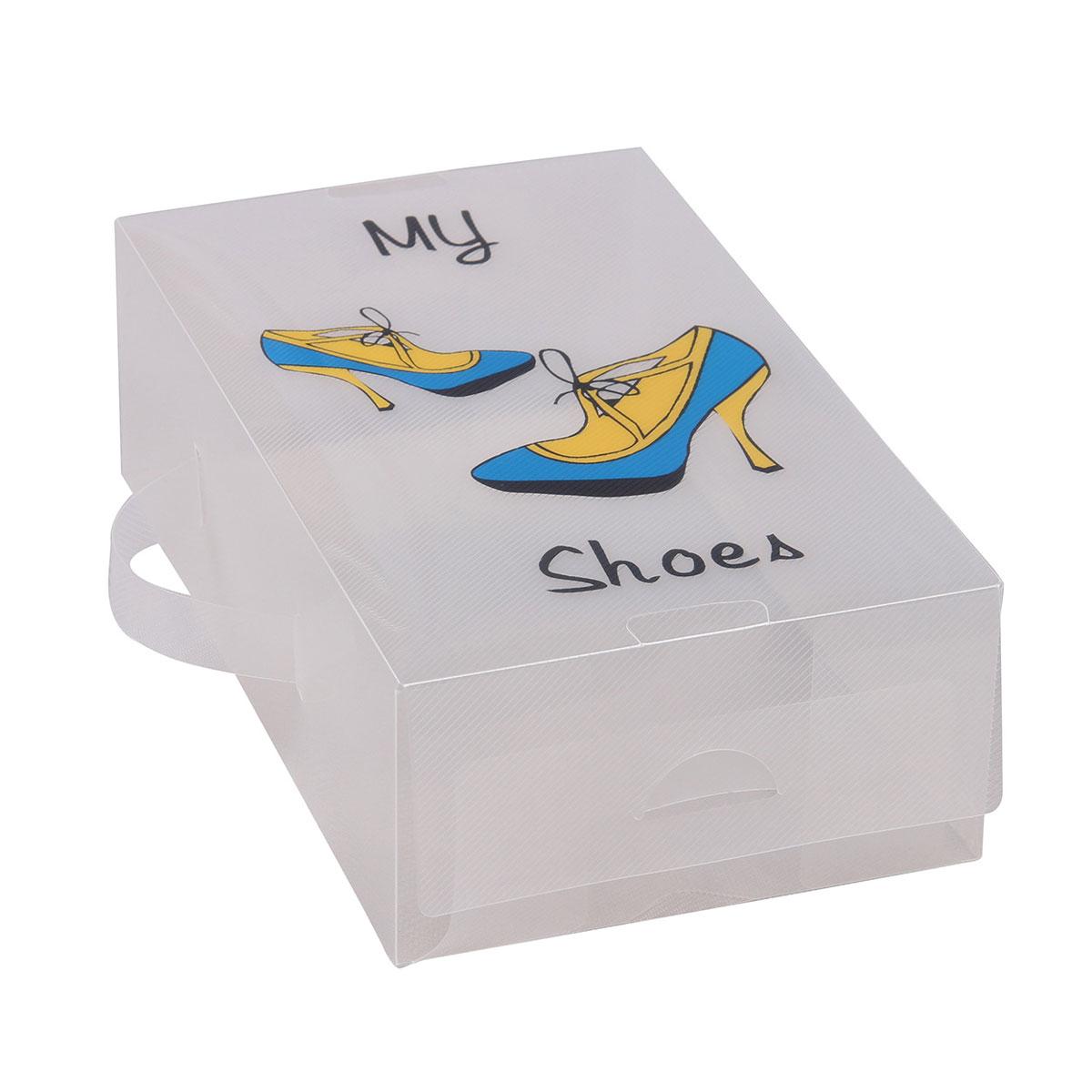 Короб для xранения обуви Miolla, 30 x 18 x 10 см. PLS-10PLS-10Удобный пластиковый короб для хранения обуви Miolla станет идеальным решением для организации пространства вашего гардероба. Можно больше не переживать за сохранность дорогих туфель или изысканных босоножек, короб Miolla позволит отделить одну пару от другой и в отличие от картонных аналогов не потеряет форму, угрожая испортить любимую обувь. Размер короба: 30 х 18 х 10 см.