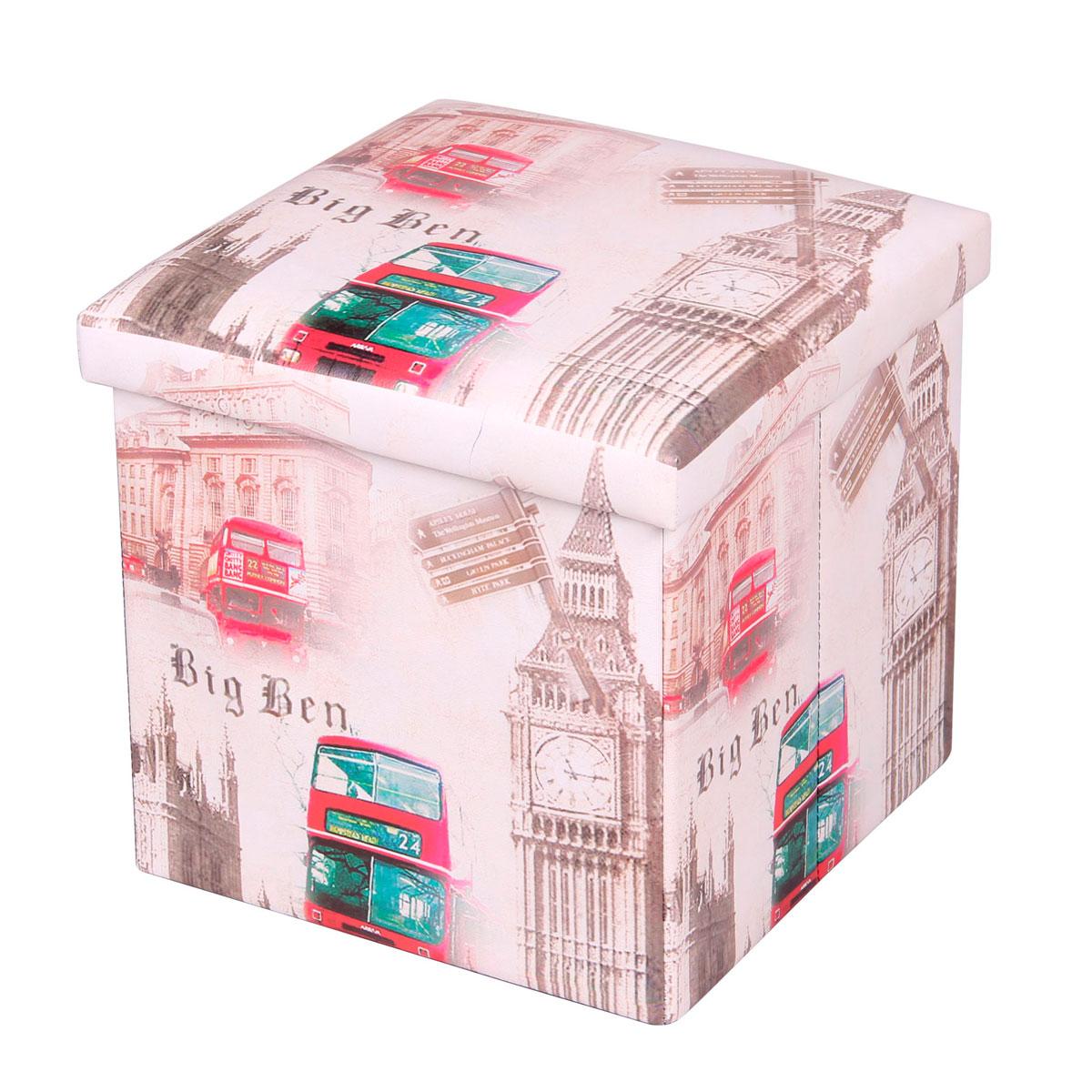 Пуф-короб для xранения Miolla, 38 x 38 x 38 см. PSS-13PSS-13Пуф-короб Miolla создан, чтобы сделать хранение вещей не только удобным, но и стильным. Классический Лондон снаружи и внутри идеальное функциональное пространство для хранения необходимых мелочей и аксессуаров. Несмотря на внешне компактные размеры, пуф-короб очень вместителен и определенно станет незаменимой вещью в любом доме.