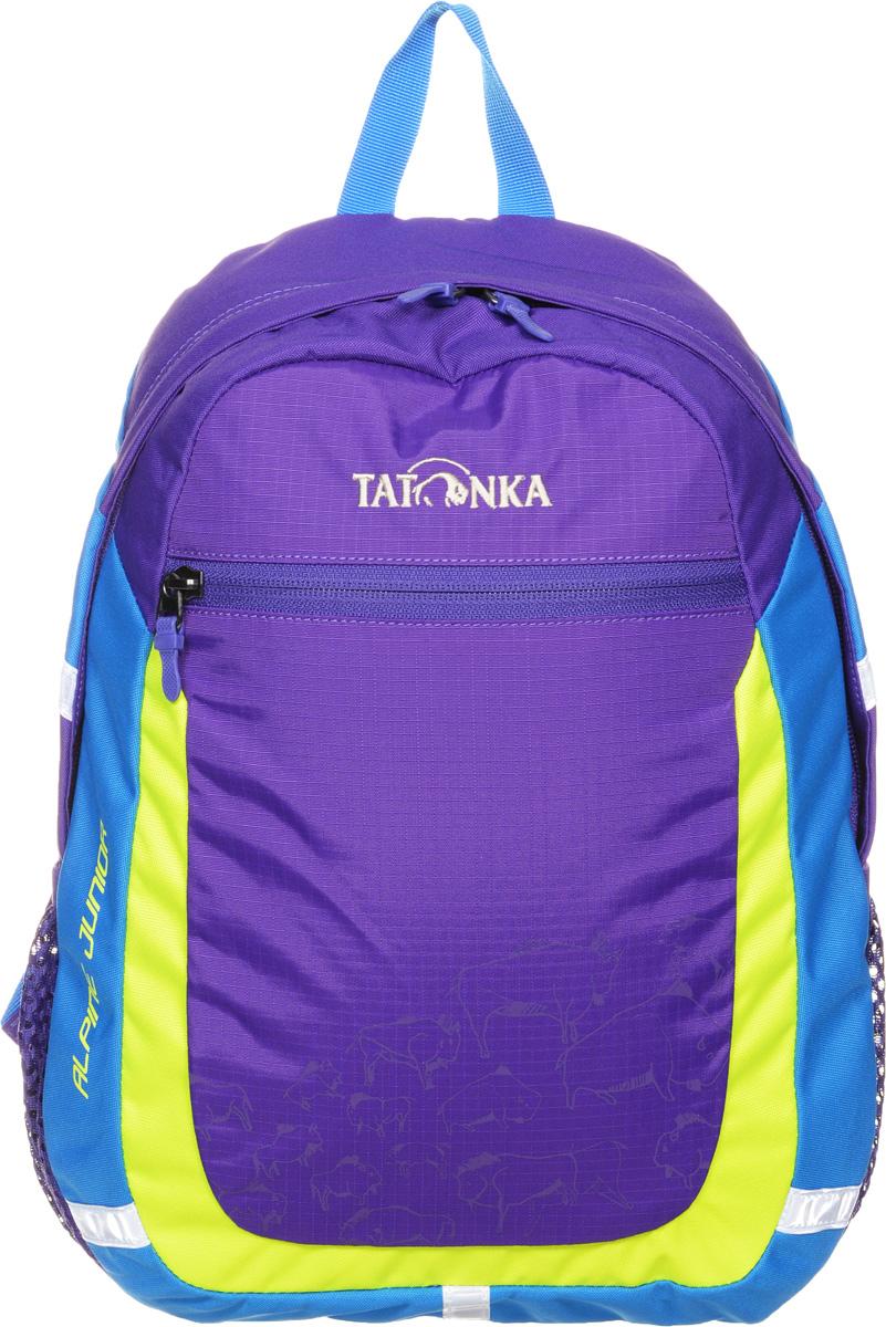 Рюкзак детский Tatonka Alpine Junior, цвет: фиолетовый, 11 л1827.106Аккуратный и удобный рюкзак для детей 4-7 лет. Рюкзак универсален, подойдет как для детского сада, так и путешествий. В нем поместится все необходимое: перекус, вода, сменная одежда, салфетки, небольшие игрушки и тд. Спинка с мягкой подкладкой, удобные S-образные лямки, нагрудный ремень: все это способствует идеальной посадке рюкзака. Отражающие элементы повышают безопасность ребенка на улице.