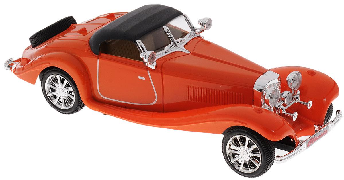 Junfa Toys Машинка инерционная Madness цвет оранжевыйL125_оранжевыйИнерционная машинка Junfa Toys, выполненная из безопасного пластика, станет любимой игрушкой вашего ребенка. Игрушка представляет собой уменьшенную копию ретро-автомобиля. Игрушка оснащена инерционным механизмом. Достаточно немного подтолкнуть ее назад или вперед, а затем отпустить, и машинка сама поедет в том же направлении. Ваш ребенок будет увлеченно играть с этой машинкой, придумывая различные истории. Порадуйте его таким замечательным подарком!