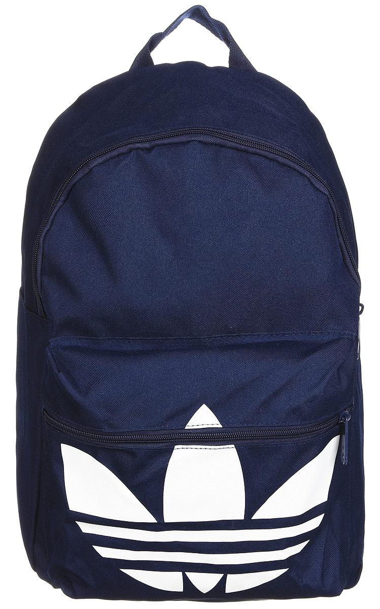 Рюкзак городской Adidas Bp clas trefoil, цвет: синий. AJ8529AJ8529Рюкзак Adidas Bp Clas Trefoil текстильный на молнии. Лямки регулируются, один карман внутри, один снаружи. С фирменным логотипом.