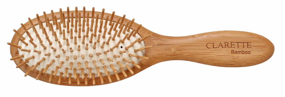 Clarette Щетка для волос на подушке с бамбуковыми зубцами, цвет: рыжий