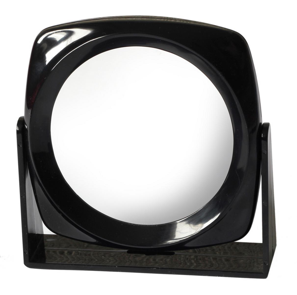 Silva Зеркало настольное, круглое, цвет: черный