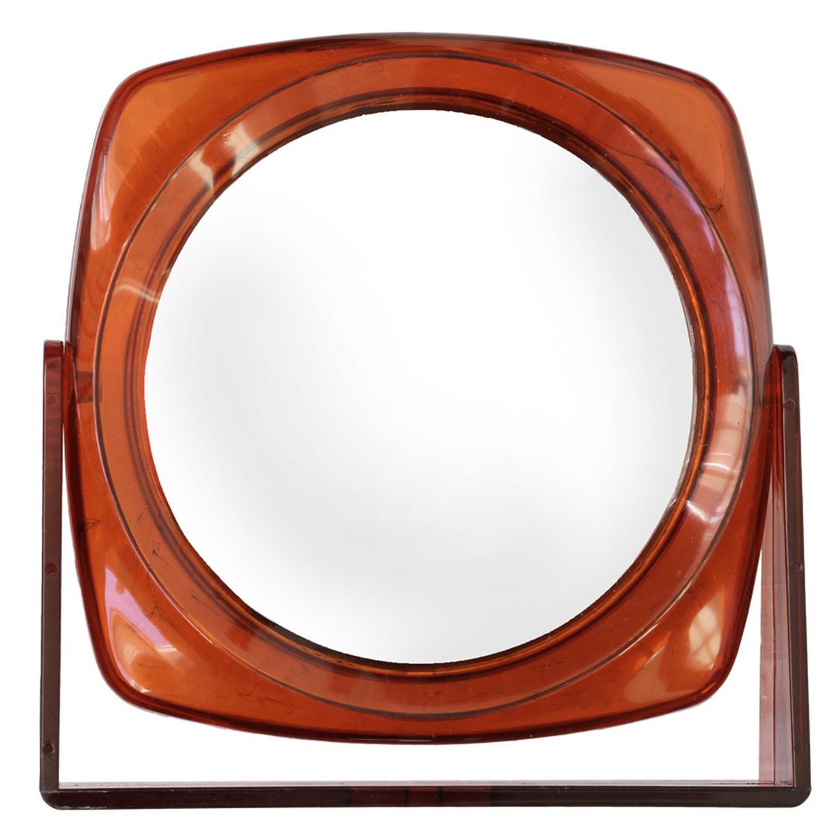 Silva Зеркало настольное, круглое, цвет: коричневыйSZ 584Зеркало двухсторонее, с трехкратным увелечением.