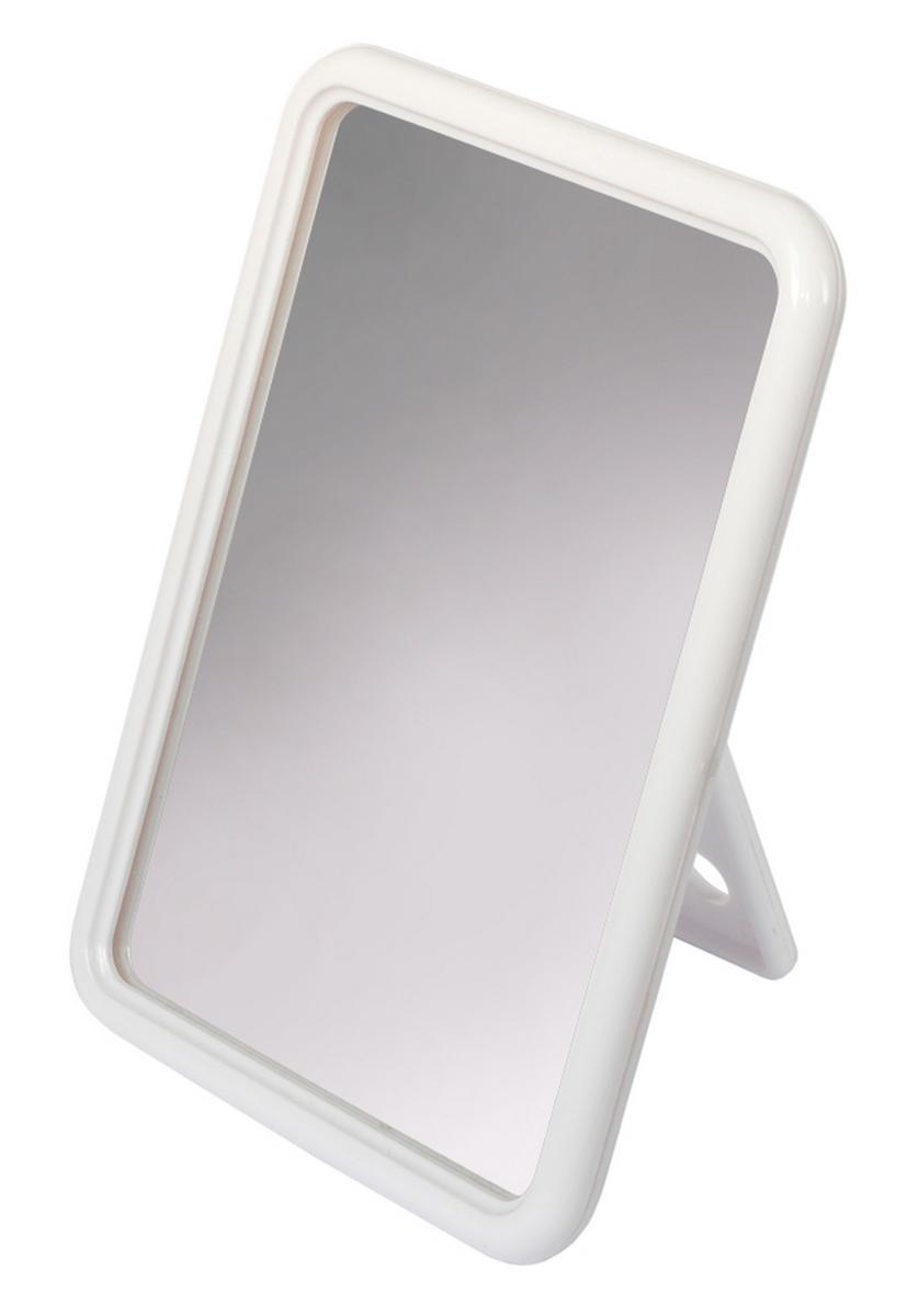 Silva Зеркало настольное, прямоугольное, цвет: белый