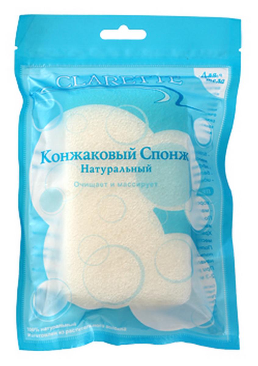Clarette Конжаковый спонж натуральный для тела,белыйCKS 429Конжаковый спонж натуральный для тела. Очищает и массирует 100% натуральный. Изготовлен из растительного волокна. Растение Конжак выращивается в горах Японии и Китая и имеет более 2000-летнюю историю применения в оздоровительном питании и косметологии. Конжаковые спонжи изготавливаются из 100% чистого натурального конжакового волокна, богатого своими полезными компонентами. Один из них, глюкоманан, способствует мягкому удалению отмершего рогового слоя кожи, бережно и тщательно очищает поры, не повреждая поверхностть кожи, делает ее сияющей и ослепительно чистой. Благодаря глюкоманану, конжаковое волокно имеет удивительную способность удерживать воду делая спонж невероятно мягким и нежным. Благодаря необычайно мягкой структуре, спонж аккуратно очищает, массирует и увлажняет кожу, придавая ей натуральный блеск - эффективно борется с бактериями, вызывающими угревую сыпь (акне)- балансирует PH кожи- идеально подходит для всех всех типов.