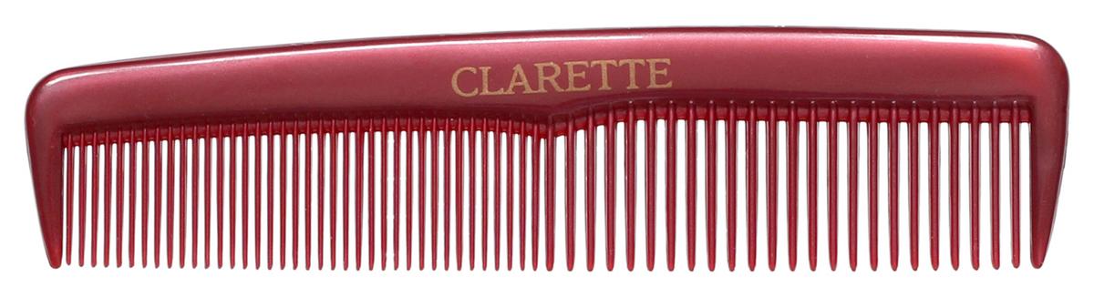 Clarette Расческа для волос карманная, цвет: бордовыйCPB 097Коллекция Clarette Перламутр- это расчески, щетки и термо-брашинги для ухода за волосами. Коллекция изготовлена из перламутрового пластика в яркой цветовой гамме. Маленький размер расчески не заменим в дороге