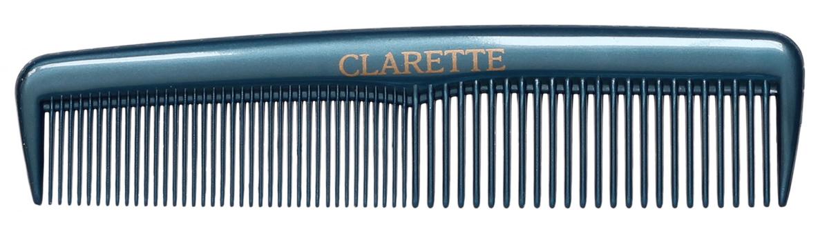Clarette Расческа для волос карманная, цвет: синийCPB 518Коллекция Clarette Перламутр- это расчески, щетки и термо-брашинги для ухода за волосами. Коллекция изготовлена из перламутрового пластика в яркой цветовой гамме. Маленький размер расчески не заменим в дороге
