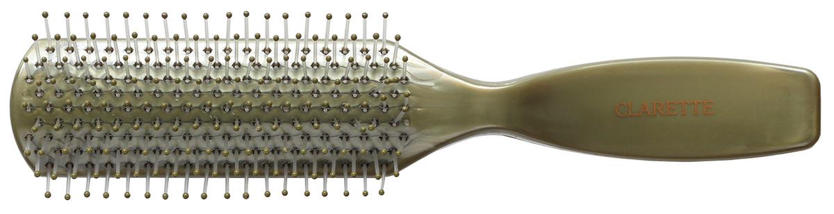Clarette Щетка для волос с гибкими нейлоновыми зубцами, цвет: оливковыйCPB 526Коллекция Clarette Перламутр- это расчески, щетки и термо-брашинги для ухода за волосами. Коллекция изготовлена из перламутрового пластика в яркой цветовой гамме. Легко поднимает корни волос, придавая объем прическе
