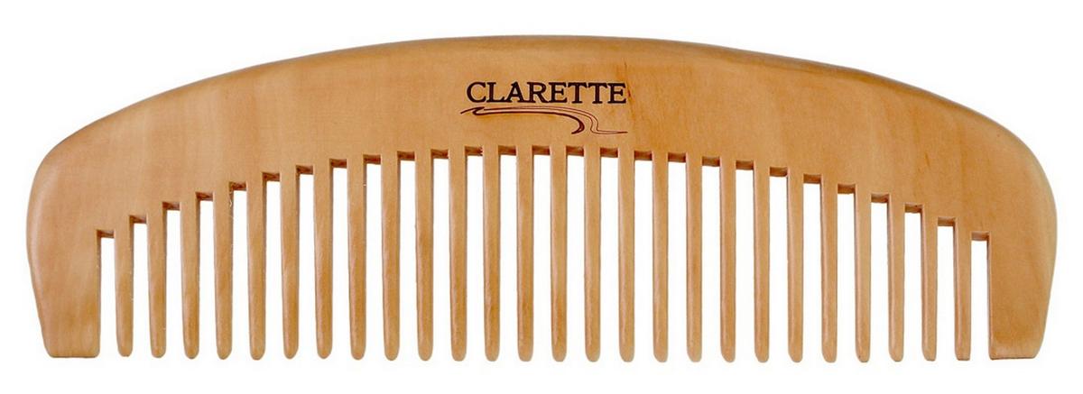 Clarette Расческа- гребень для волос деревянная, цвет: бежевыйCWC 483Clarette представляет серию из натурального персикового дерева. Деревянная расческа является самой полезной и безопасной для наших волос. Она максимально щадит волосы: они не так сильно секутся, ломаются, меньше электризуются, выглядят здоровыми, блестящими и шелковистыми. Деревянной расческой можно наносить на волосы всевозможные маски и бальзамы, т. к. древесина не вступает в химическую реакцию с косметическими средствами