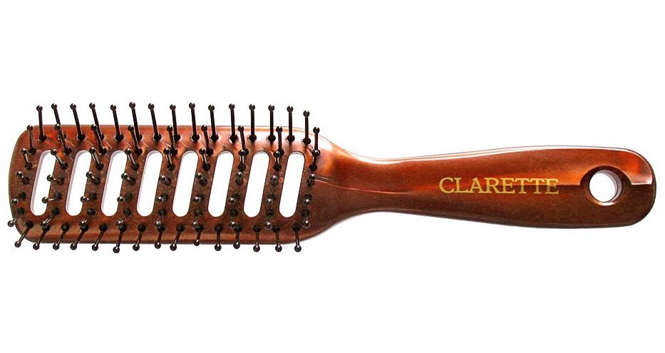 Clarette Щетка для волос вентиляционная, цвет: бордовыйCPB 103Коллекция Clarette Перламутр- это расчески, щетки и термо-брашинги для ухода за волосами. Коллекция изготовлена из перламутрового пластика в яркой цветовой гамме. Вентиляционные отверстия обеспечивают легкий доступ воздуха при использовании фена. Подходит для профессионального применения.