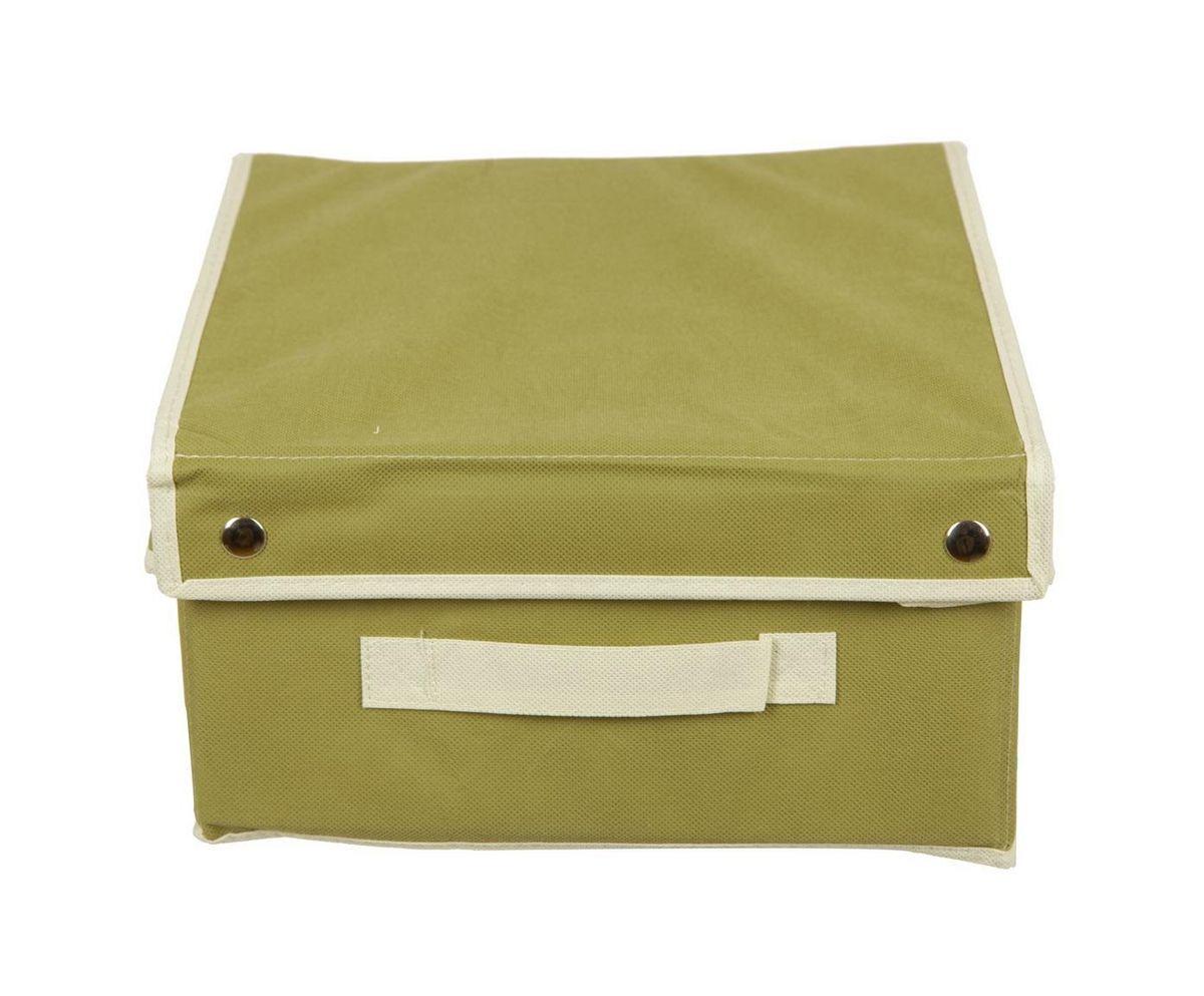 Кофр для хранения HomeMaster, складной, цвет: оливковый, 28 x 33 x 15 см20110401Кофр предназначен для хранения вещей. Он обеспечит бережное хранение и позволит организовать внутреннее пространство вашего дома. Теперь вы быстро найдете необходимую вещь. Кофр можно расположить, как на полке, так и в выдвижном ящике вашего шкафа.