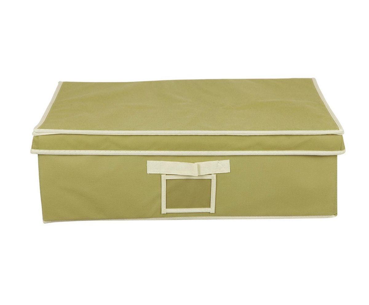 Кофр для хранения HomeMaster, складной, цвет: оливковый, 56 х 48 х 18 см20110404Кофр предназначен для хранения вещей. Он обеспечит бережное хранение и позволит организовать внутреннее пространство вашего дома. Теперь вы быстро найдете необходимую вещь. Кофр можно расположить, как на полке, так и в выдвижном ящике вашего шкафа.
