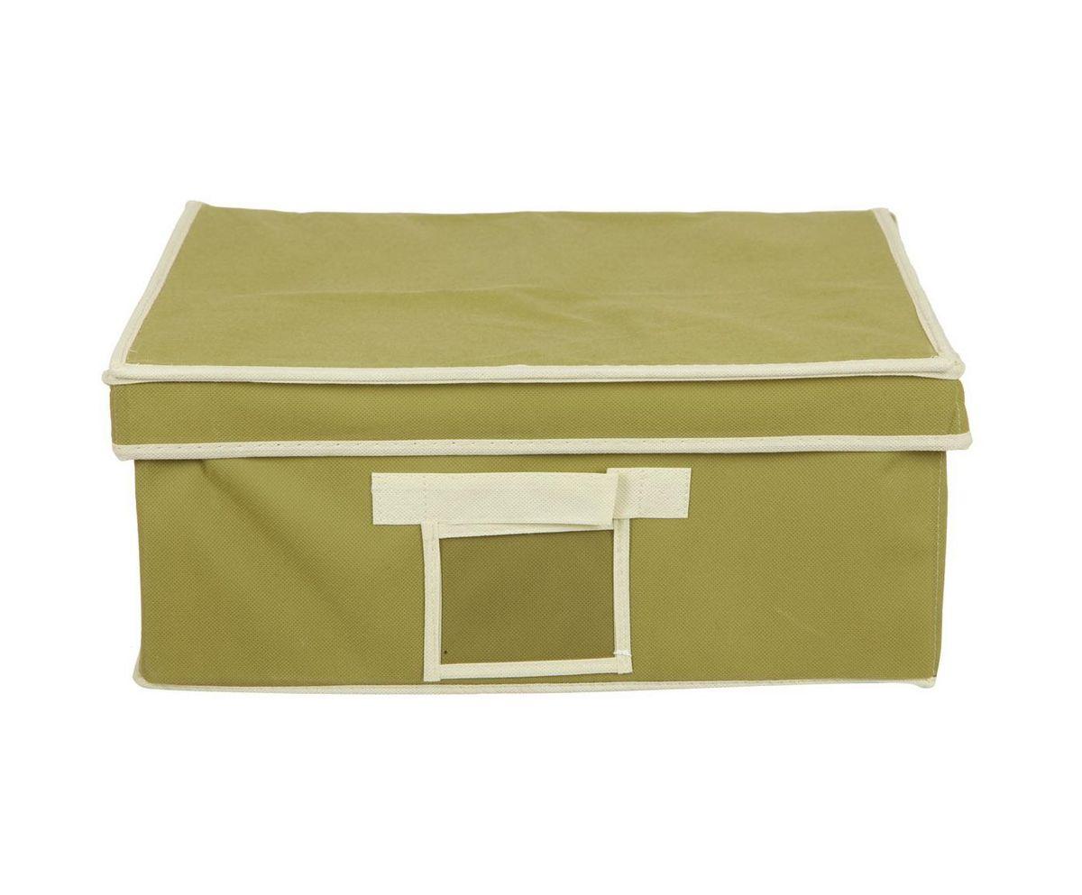 Кофр для хранения HomeMaster, складной, цвет: оливковый, 40 х 32 х 17 см20110406Кофр предназначен для хранения вещей. Он обеспечит бережное хранение и позволит организовать внутреннее пространство вашего дома. Теперь вы быстро найдете необходимую вещь. Кофр можно расположить, как на полке, так и в выдвижном ящике вашего шкафа.