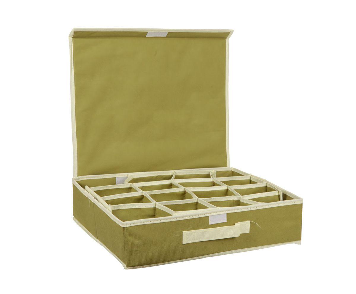 Органайзер HomeMaster, для аксессуаров и нижнего белья, оливковый, 40 x 32 x 10 см20110411Органайзер предназначен для хранения аксессуаров и нижнего белья. Он обеспечит бережное хранение вещей и позволит организовать внутреннее пространство вашего дома. Теперь вы быстро найдете необходимую вещь. Органайзер можно расположить, как на полке, так и в выдвижных ящиках вашего шкафа.