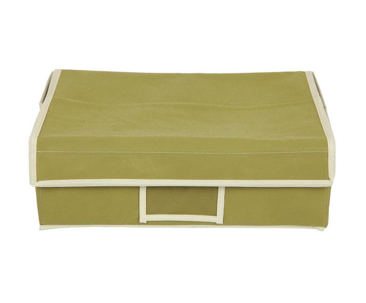 Кофр для хранения HomeMaster, складной, цвет: оливковый, 35 х 25 х 12 см20110412Кофр предназначен для хранения вещей. Он обеспечит бережное хранение и позволит организовать внутреннее пространство вашего дома. Теперь вы быстро найдете необходимую вещь. Кофр можно расположить, как на полке, так и в выдвижном ящике вашего шкафа.