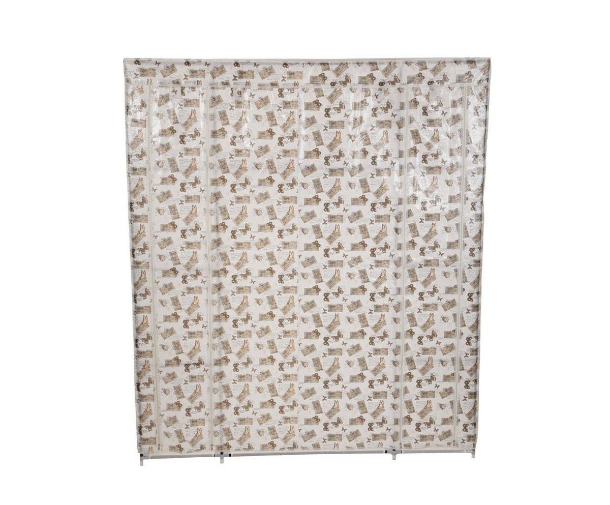 Гардероб для хранения одежды HomeMaster, цвет: белый, серый, 150 x 45 x 175 смW002BСкладной гардероб из ткани - это гениальное и практичное изобретение. Он поможет при переезде или в те моменты, когда к вам приезжают гости, или просто скопилось много одежды, например при смене сезонов. Гардероб имеет несколько секций с полками и вешалкой для одежды, легко складывается и очень компактно хранится, а вес составляет всего несколько килограмм. Замки-молнии на корпусе обепечат независимый доступ к любой из секций. Его современный и стильный дизайн оформленный фото коллажем впишется в любой интерьер. ВНИМАНИЕ! ПРИ СБОРКЕ ИСПОЛЬЗУЙТЕ ИНСТРУКЦИЮ. ВСЕ КОМПОНЕНТЫ ДОЛЖЫ БЫТЬ МАКСИМАЛЬНО СИЛЬНО ЗАФИКСИРОВАНЫ. ТКАНЕВОЕ ПОКРЫТИЕ СШИТО ТОЧНО ПО РАЗМЕРАМ ШКАФА.
