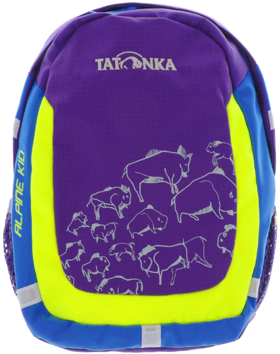 Рюкзак детский Tatonka Alpine Kid, цвет: фиолетовый, 6 л1831.106Городской рюкзак для детей от 3 до 5 лет. С объемом основного отделения 6 л. и накладным карманом со светоотражающими вставками - Alpine Kid подходит малышу не только для того, чтобы дойти до детского сада, но и для более длинных маршрутов.