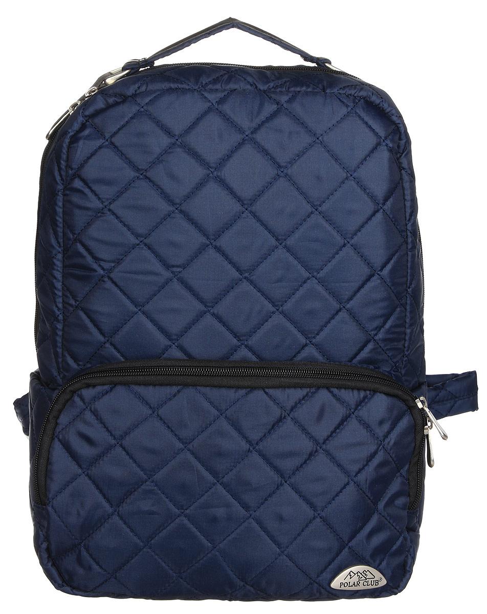 Рюкзак городской Polar, 14 л, цвет: синий. П7070-04П7070-04Абсолютно мягкий и удобный в использовании рюкзак Polar из стеганой ткани. Состоит из одного отделения, внутри которого большой карман на молнии и отделение для ноутбука до 14 или планшета. Снаружи расположен объемный карман на молнии. По бокам рюкзака небольшие открытые карманы. Лямки регулируются по длине. Сверху располагается ручка для переноски.