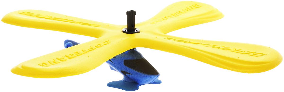 Zing Бумеранг Copterang с вертолетом цвет синий желтыйZG521_желтый, синийБумеранг с вертолетом Zing Copterang отлично подойдет для игр, как дома, так и на свежем воздухе. Он представляет собой небольшой вертолет, четыре лопасти которого работают по принципу бумеранга. Взяв за одну лопасть, запустите вертолет, наблюдайте за его полетом и поймайте, когда он вернется к вам. Благодаря мягкому материалу игрушке не страшны падения. Такая игрушка позволит вашему ребенку развить ловкость и координацию движений.
