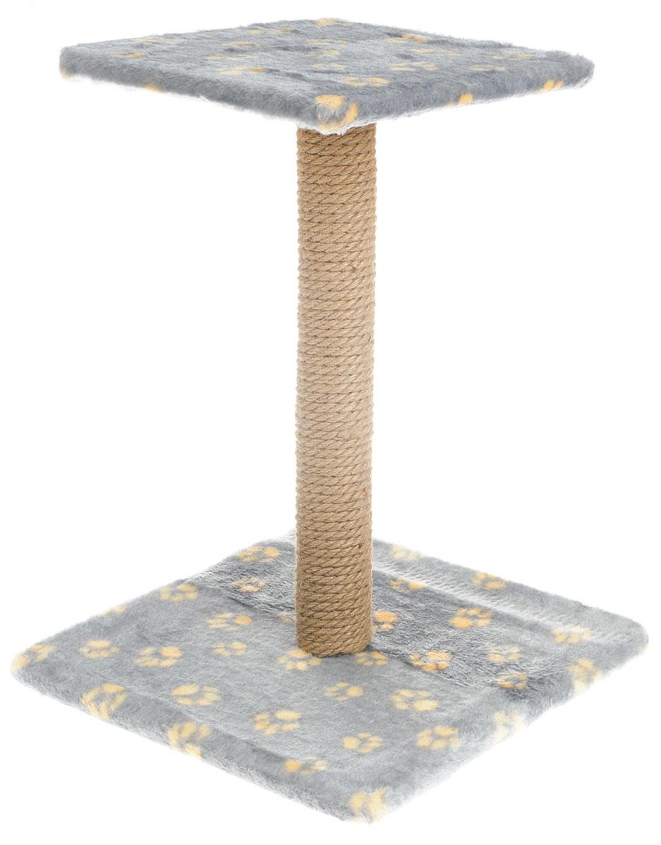 Когтеточка Меридиан Зонтик, цвет: серый, желтый, бежевый, 40 х 40 х 50 смК506 Ла_серый, желтыйКогтеточка Меридиан Зонтик поможет сохранить мебель и ковры в доме от когтей вашего любимца, стремящегося удовлетворить свою естественную потребность точить когти. Когтеточка изготовлена из дерева, искусственного меха и джута. Товар продуман в мельчайших деталях и, несомненно, понравится вашей кошке. Сверху имеется полка. Всем кошкам необходимо стачивать когти. Когтеточка - один из самых необходимых аксессуаров для кошки. Для приучения к когтеточке можно натереть ее сухой валерьянкой или кошачьей мятой. Когтеточка поможет вашему любимцу стачивать когти и при этом не портить вашу мебель. Размер основания: 40 х 40 см. Высота когтеточки: 50 см. Размер полки: 31 х 31 см.
