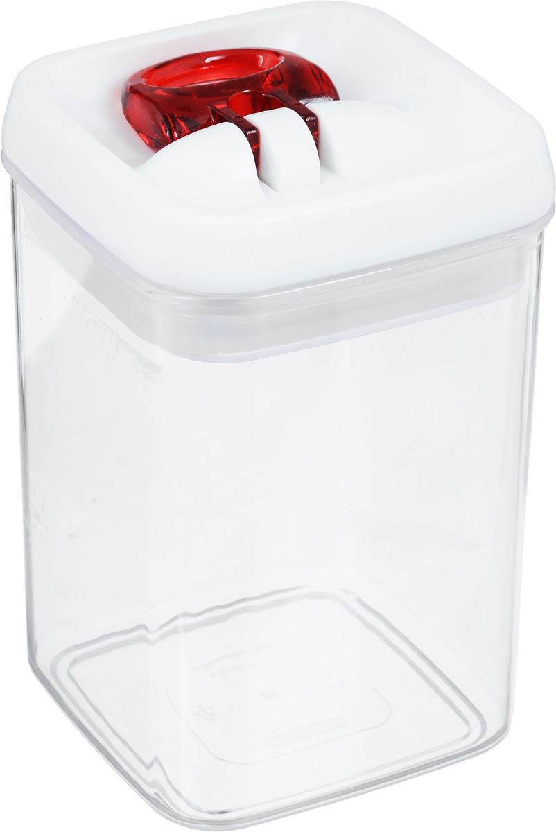 Контейнер для сыпучих продуктов Leifheit Fresh&Easy, 0,8 л31208Контейнер Leifheit Fresh&Easy, изготовленный из прочного пластика, предназначен для хранения сыпучих продуктов, например, макаронных изделий, орехов. Имеет воздухонепроницаемый и водонепроницаемый запор для оптимального хранения ваших сухих продуктов. Крышка открывается одной рукой. Емкость контейнера (без крышки) можно мыть в посудомоечной машине. Размер контейнера (с учетом крышки): 15 х 9 х 9 см.
